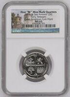 2019 W SAN ANTONIO 25C EARLY RELEASES NGC MS 65 GREAT AMERIC