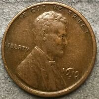 1919 S HIGHER GRADE LINCOLN WHEAT CENT PENNY. X498 FREE SHIP