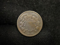 1867 TWO CENTS  ORIGINAL VG/F