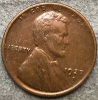 1927 D HIGH GRADE EXTRA FINE  LINCOLN WHEAT CENT PENNY. X731 FREE SHIP