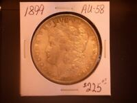 1899 $ MORGAN SILVER DOLLAR,  AU, SALE
