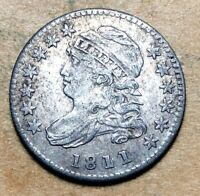 1811/09 CAPPED BUST DIME  VF/EXTRA FINE