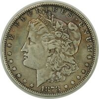 1878-P $1 MORGAN SILVER DOLLAR 7/8TF STRONG - BETTER DATE - EXTRA FINE  - 101219