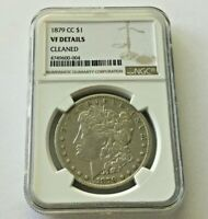 1879-CC MORGAN SILVER DOLLAR VF DETAILS - CLEANED - NGC CERTIFIED KEY DATE