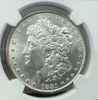 1881-CC MORGAN SILVER DOLLAR GRADED BY NGC MINT STATE 64 KEY DATE LOW MINTAGE - ESTATE