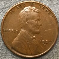 1937 D HIGH GRADE EXTRA FINE /EXTRA FINE  LINCOLN WHEAT CENT PENNY. R393 FREE SHIP