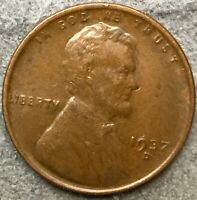 1937 D HIGH GRADE EXTRA FINE  LINCOLN WHEAT CENT PENNY. R370 FREE SHIP