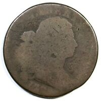 1796 S 186 R 2 DRAPED BUST LARGE CENT COIN 1C