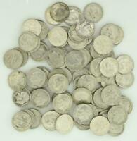 ROOSEVELT SILVER DIME 2 ROLLS 90  $10 FACE SILVER DIMES MIXE