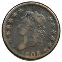 1808 S 277 R 2 CLASSIC HEAD LARGE CENT COIN 1C