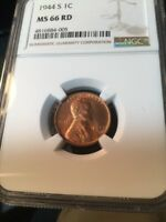 1944-S NGC MINT STATE 66 LINCOLN- BUY THE COIN NOT THE HOLDER