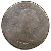 1797 S 137 R 2 DRAPED BUST LARGE CENT COIN 1C