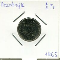 1/2 FRANC 1965 FRANCE FRENCH COIN AM911UW