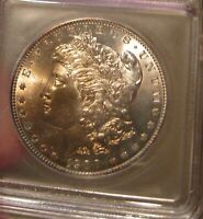 1900 O MORGAN SILVER DOLLAR - ICG MINT STATE 65, SLIGHTLY TONED OBVERSE  3522
