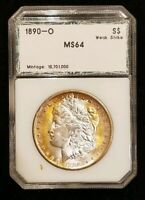 1890-O MORGAN SILVER DOLLAR TONED  ANY VAMS ON THIS? YOU DECIDE