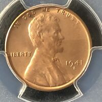 1941-S 1C RD LINCOLN WHEAT ONE CENT  PCGS MINT STATE 65RD            35721140