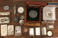 LOT OF  VINTAGE .999 SILVER ANUBIS COLLECTION OTHER BARS  70