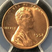 1952 1C RD LINCOLN WHEAT ONE CENT  PCGS MINT STATE 64RD          36337647
