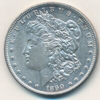 1890-S MORGAN SILVER DOLLAR-BEAUTIFUL GENTLY HANDLED DOLLAR-SHIPS FREE INV:4