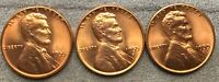 1955-P 1955-D 1955-S UNCIRCULATED BU RED RD LINCOLN WHEAT CENTS  FREE SHIP A294
