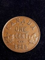 1925 CANADA SMALL ONE CENT. KEY DATE.