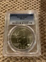1972 S $1 SILVER IKE EISENHOWER DOLLAR MINT STATE PCGS GRADED MINT STATE 67