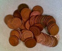 CIRCULATED ROLL 50 COINS 1889 INDIAN HEAD CENTS 001
