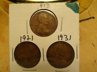 1913, 1921, 1931 LINCOLN CENTS 2173