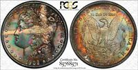 1902 O MORGAN SILVER DOLLAR PCGS MINT STATE 64  DATE COLORFUL TONED JESUS PIECE