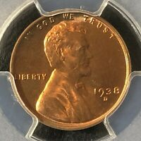 1938-D 1C RD LINCOLN WHEAT ONE CENT  PCGS MINT STATE 64RD    36067184