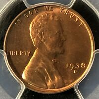 1938-D 1C RD LINCOLN WHEAT ONE CENT  PCGS MINT STATE 64RD    36067182