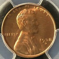 1938-D 1C RD LINCOLN WHEAT ONE CENT  PCGS MINT STATE 64RD    36067158