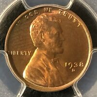 1938-D 1C RD LINCOLN WHEAT ONE CENT  PCGS MINT STATE 65RD    36402833