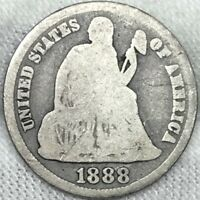 1888-S 10C SEATED DIME ||| GREAT LOOKING EARLY US TYPE COIN
