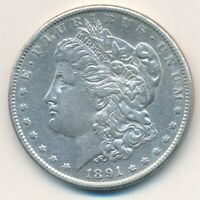 1891-S MORGAN SILVER DOLLAR-BEAUTIFUL GENTLY HANDLED MORGAN DOLLAR-SHIPS FREE