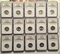 2003 2004 2005  SILVER PROOF STATE QUARTERS ALL NGC PF 69