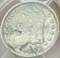 1835 PCGS AU CAPPED BUST HALF DIME H10C   SMALL DATE LARGE 5