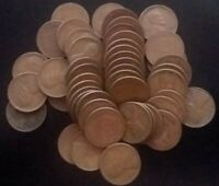 1952-P LOT OF 50 LINCOLN WHEAT CENTS - GOOD CIRCULATED CONDITION