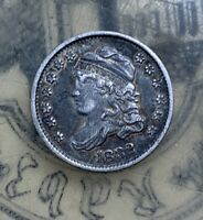 1832 CAPPED BUST HALF DIME EXTRA FINE  DARK TONED  OLD TYPE COIN MONEY
