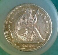 1838 WITH STARS SEATED LIBERTY HALF DIME 007