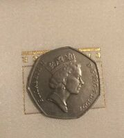 AND EXPENSIVE ELIZABETH II D.G. REG. F.D. 1997   50 PENCE