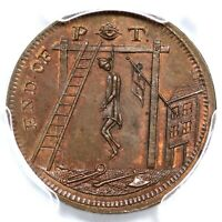 1796 DH 1111A PCGS MS 64 BN MIDDLESEX SPENCE'S CONDER TOKEN 1/4D