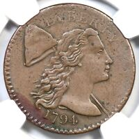 1794 S-57 NGC EXTRA FINE  45 HEAD OF 94 LIBERTY CAP LARGE CENT COIN 1C