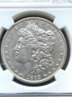 1893 P MORGAN SILVER DOLLAR NGC AU  KEY DATE US OLD COIN