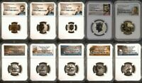 2018 S SILVER REVERSE PROOF SET NGC PF70   FIRST RELEASES