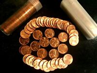 1955 D LINCOLN WHEAT CENT BU ROLLS  3