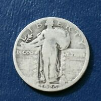 1926 SILVER LIBERTY STANDING QUARTER   GOOD TO VG DETAILS