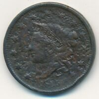 1835 CORONET HEAD LARGE CENT-SMALL STARS & 8- CIRCULATED CENT-FREE S/H INV3