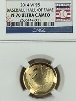 2014 W NGC PF70 EARLY RELEASES PROOF BASEBALL HALL OF FAME $