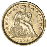 1856 SEATED DIME  SMALL DATE  AU ABOUT UNCIRCULATED  PRICED RIGHT INV. 2